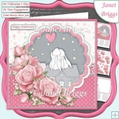 SOME BUNNY LOVES YOU 7.5 Decoupage & Insert Kit All Occasions