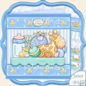 Baby Boy Shelf 7.5 New Baby Decoupage Kit