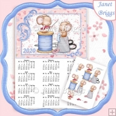 STITCHED FOR YOU 2020 A4 UK Calendar with Decoupage Kit
