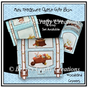 Woodland Critters Mini Treasure Chest Gift Box