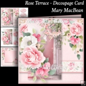 Rose Terrace - Decoupage Card