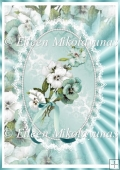 Mirrored Pansies Elegant Backing Background Paper