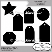 CU4CU, Commercial or Personal Use Ok Assorted Tag Templates