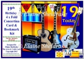 19th Birthday Guitars - Over The Edge Concertina Card Kit