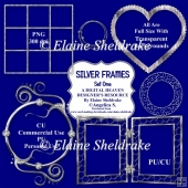 Silver Frames - Set One - CU Designer Resource For CU & PU