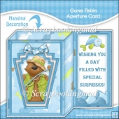 Gone Fishin Aperture Card & Envelope