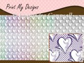 13 Lace Heart A4 Backing Papers CU OK