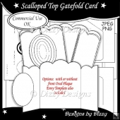 Scalloped Top Gatefold Card Template