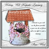 Wishing Well Keepsake/Luminary - Stone/Wood