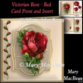Victorian Rose - Red Card Front and Insert