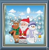 Rudolf, Santa and snowman friend