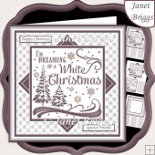 CHRISTMAS MONOTONE WHITE CHRISTMAS 7.5 Quick Layer Card & Insert