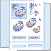 Blue Crib Decoupage