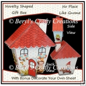 Novelty Shaped Gift Box - No Place Like Gnome