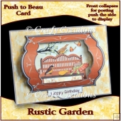 Push to Beau Card - Rustic Garden