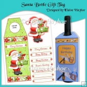 Santa Bottle Gift Tag
