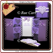 936 Hearts Shutter Card with Band Multiple MACHINE Formats