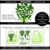 Birth Flowers and Gems May: Handbag Packet