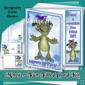 Monster Fun Filled Birthday Card Kit