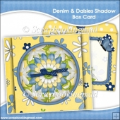 Denim & Daisies Shadow Box Card and Envelope
