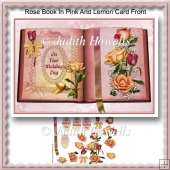 Rose book In Pink And Lemon Card Front