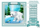 Christmas Polar Bear - Square Card Topper With Family Greetings
