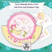 Lacey Butterfly Rocker Card with Insert & Extra Sentiment Tiles