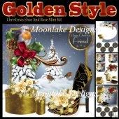 Golden Style Shoe And Rose Christmas Mini Kit
