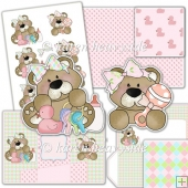 Cute Silly Baby Bears Angled Tri Shutter Card