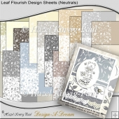 Leaf Flourish Design Sheets (Neutrals)