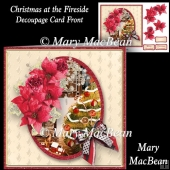 Christmas at the Fireside Decoupage Card Front