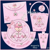 My 1st Christmas Girl Rocker Card and Tote