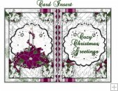Cozy Christmas Greetings Card Insert