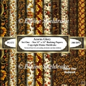 Autumn Glory - Set One - Ten 12 x 12 Backing Papers
