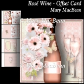 Rosé Wine - Offset Card