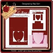 T028 Heart Stepper Card Template *PNG & PDF*