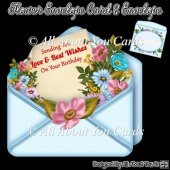 Flower Envelope Card & Envelope
