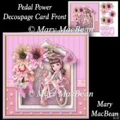 Pedal Power - Decoupage Card Front