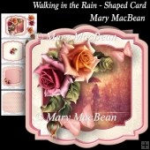 Walking in the Rain - Shaped Card