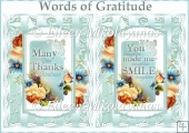 Words of Gratitude Card Fronts