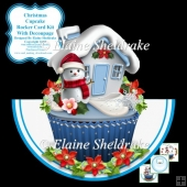 "Christmas Cupcake - 7"" x 7"" Rocker Card Kit With Decoupage"
