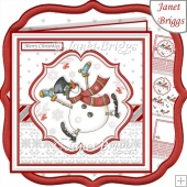 DANCING SNOWMAN 7.5 Christmas Decoupage & Insert Kit