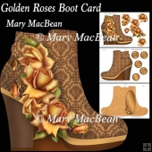 Golden Roses Boot Card