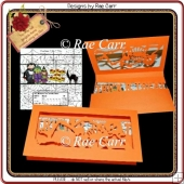 597 Halloween Skeleton Candy Card *Multiple MACHINE Formats*
