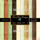November Colors CP1 :: A4 Digital Papers Pack 2