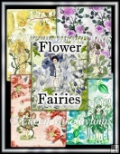 Vintage Flower Fairies Background Backing Papers Set of 5