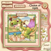 Dinosaur Dino-mite Birthday or Father's Day Kit with Ages