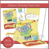 Elephant Birthday Easel Card