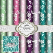 "8"" x 8"" Cherry Blossom Embossed Lace - Set One - Backing Papers"