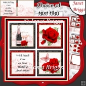 ANNIVERSARY ROSE SQUARES 7.5 Quick Layer Card & Insert Mini Kit